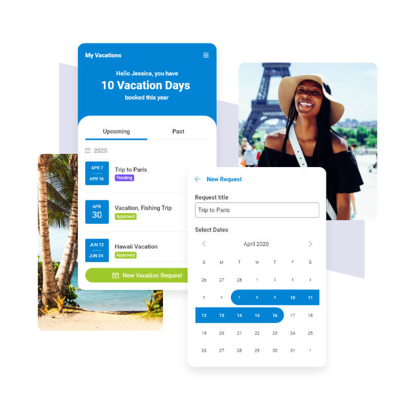 A Vacation Request app built by Blueshift using Power Platform components.