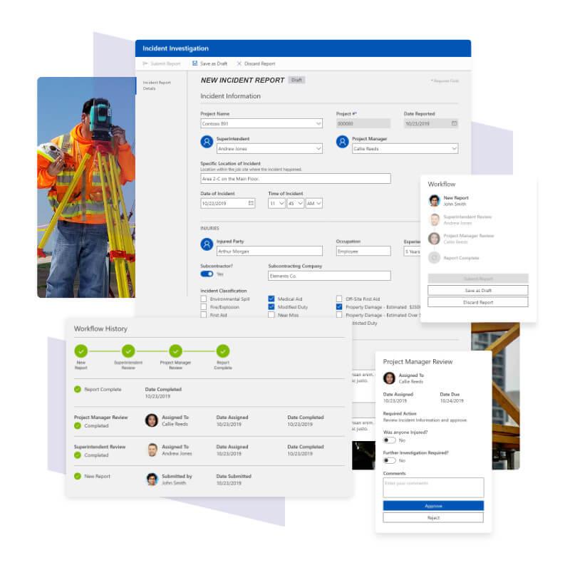 Incident Investigation app built by Blueshift using Power Platform components.