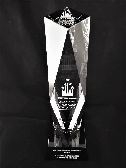 Sandblasted award produced by FiveStar Awards & Engraving