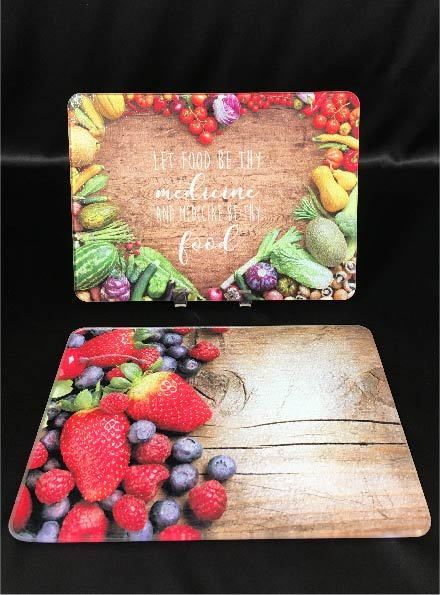 Cutting board with image printed on it from FiveStar Awards and Engraving in Cary NC