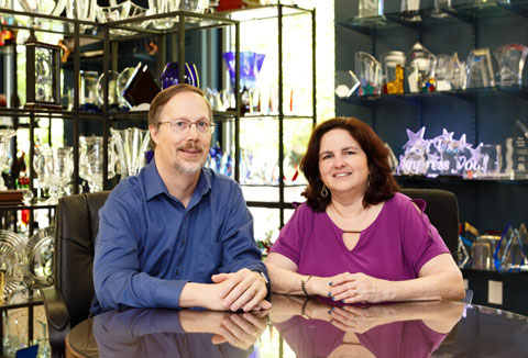 lisa and jeff higgenbotham of fivestar awards & engraving in Cary NC