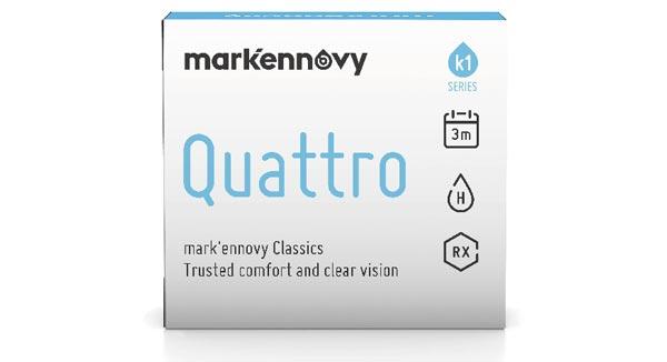 [[pt]]A Quattro oferece correção esférica, tórica e multifocal em múltiplos diâmetros para usuários já acostumados a uma substituição de lente de trimestral.