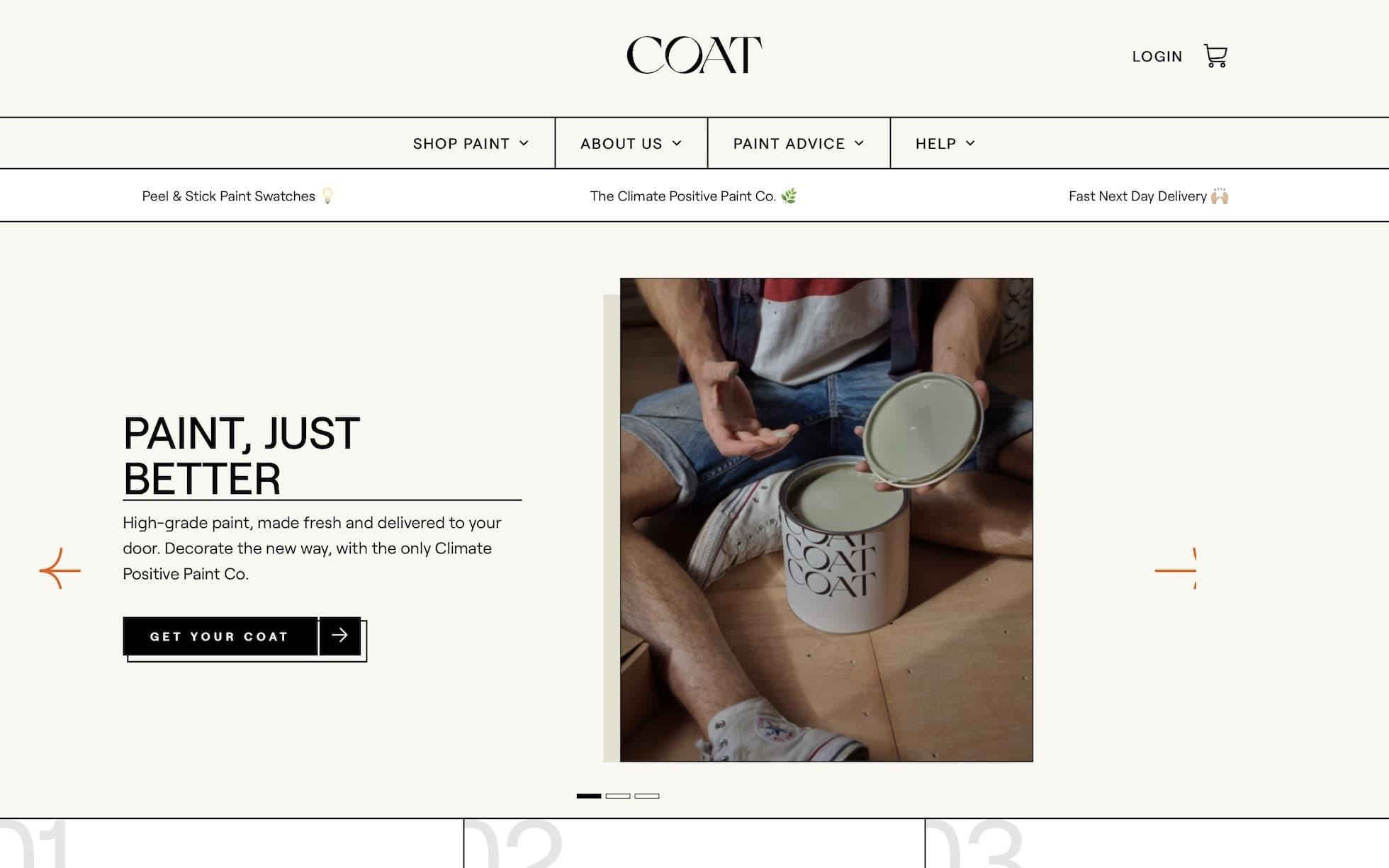 Coat homepage screenshot