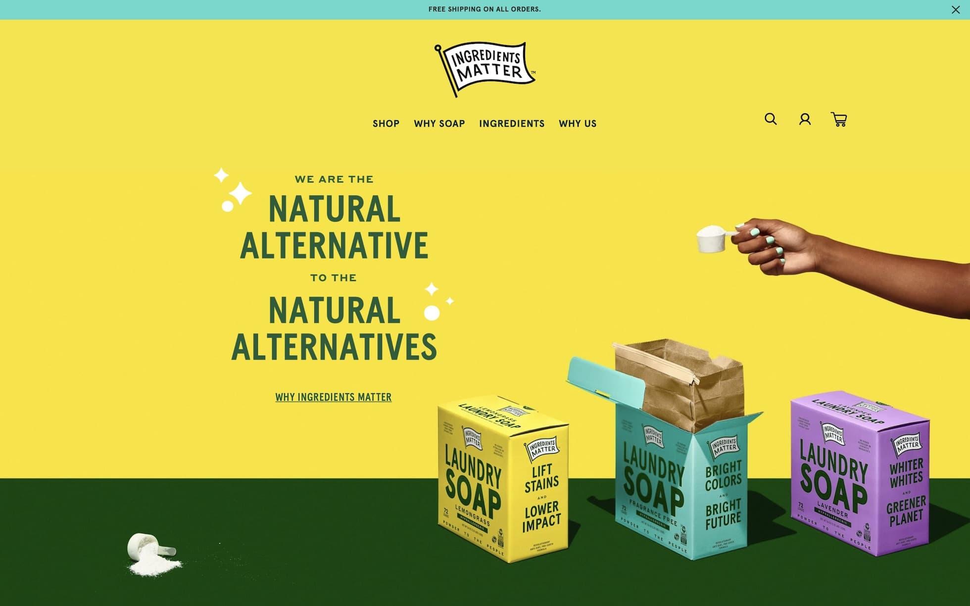 Ingredients Matter homepage screenshot