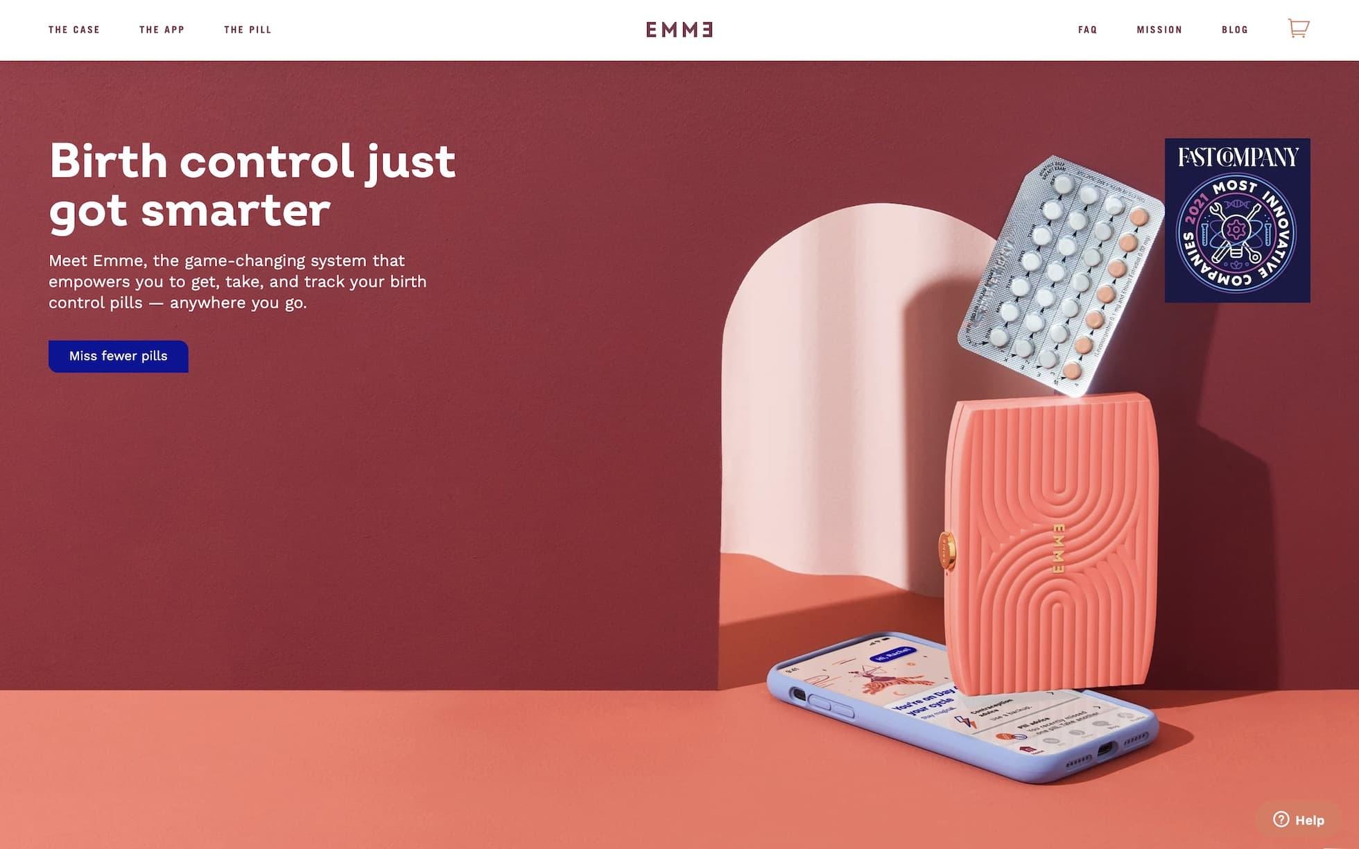 Emme homepage screenshot