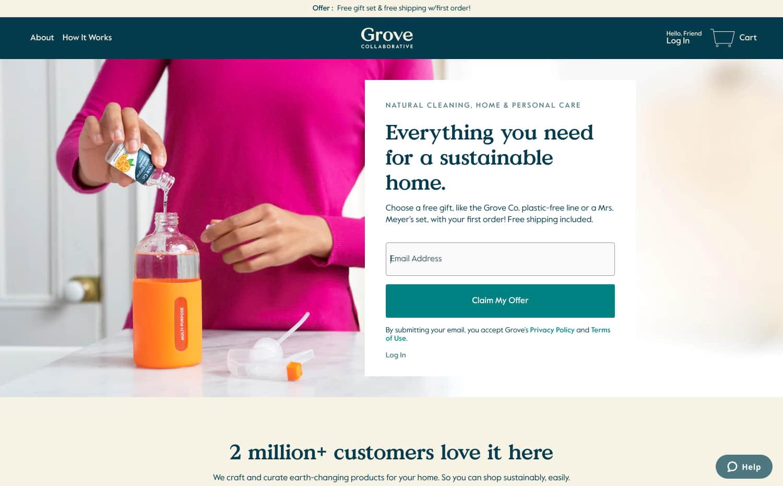 Grove Collaborative Screenshot Main