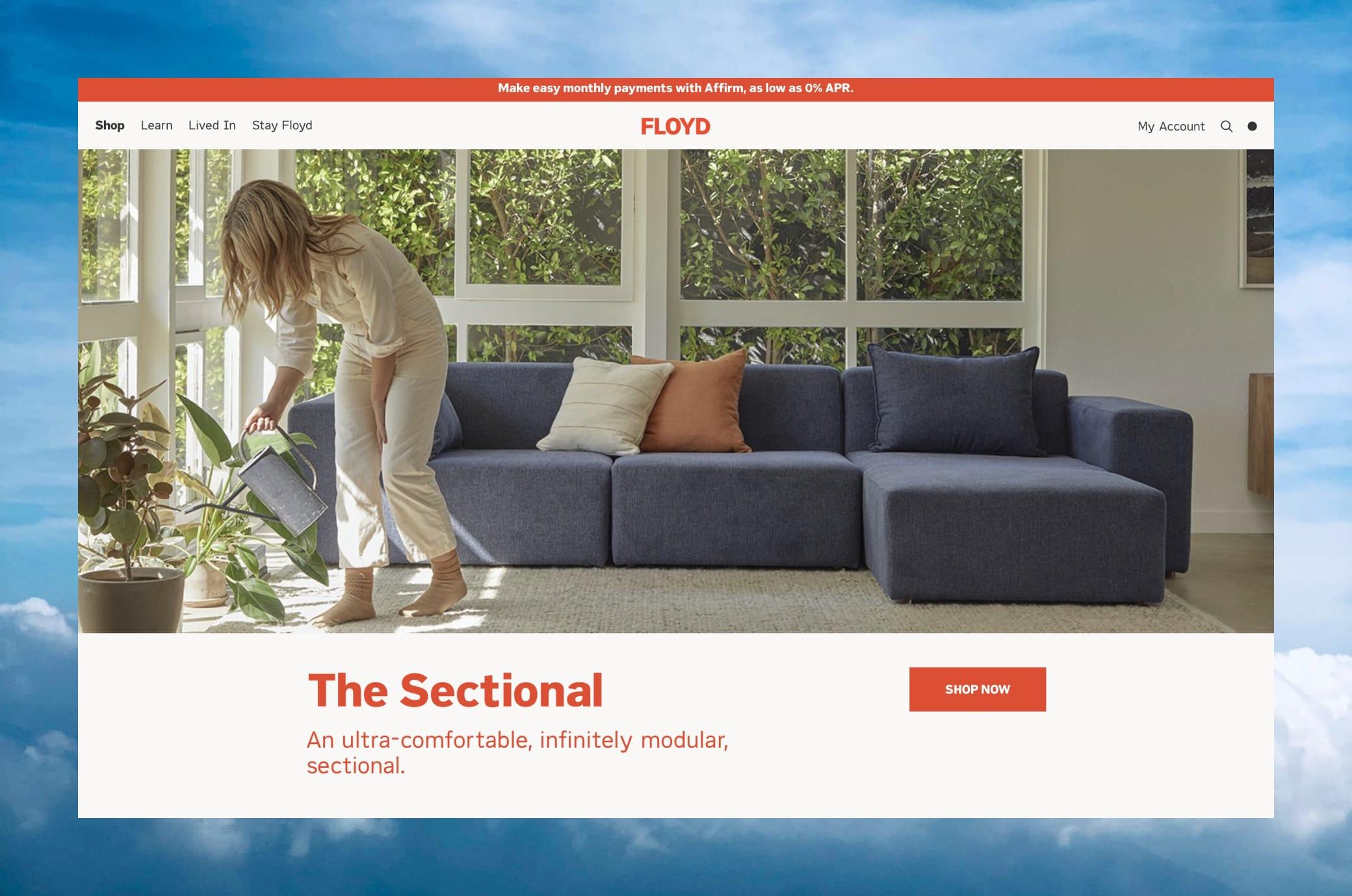 Floydhome.com Home Page Screenshot