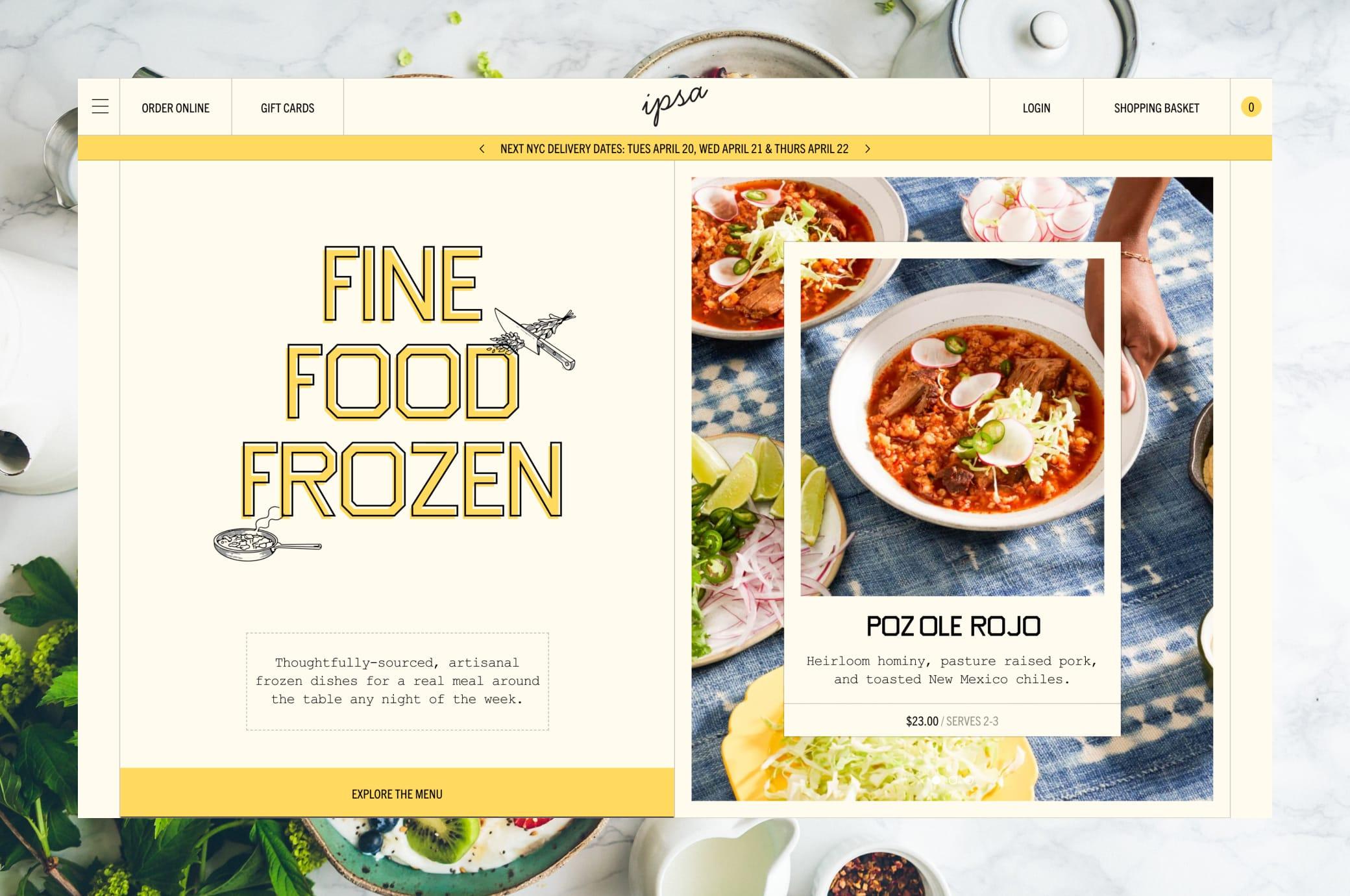 Eatipsa.com Home Page Screenshot