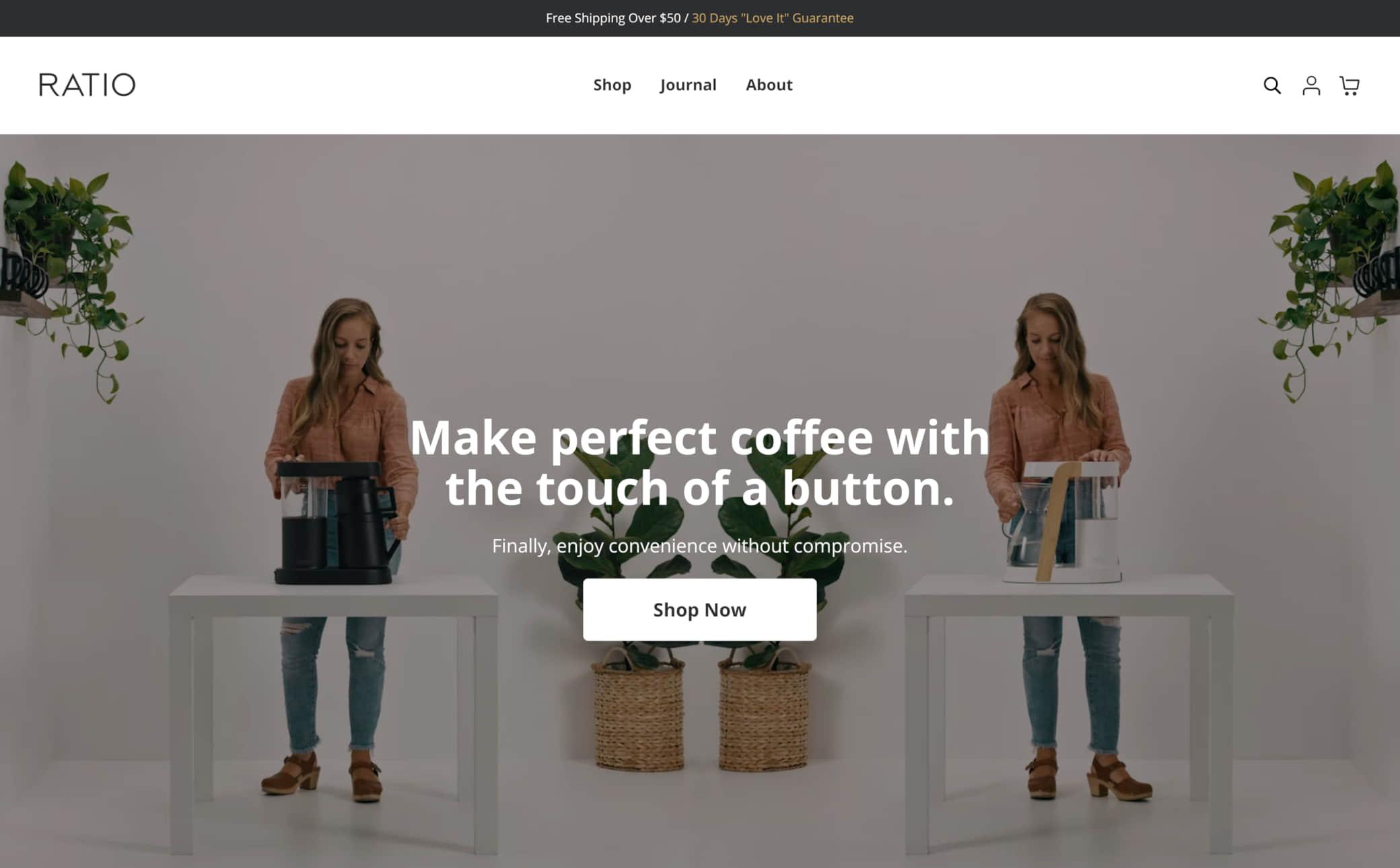 Ratio Coffee Screenshot Main