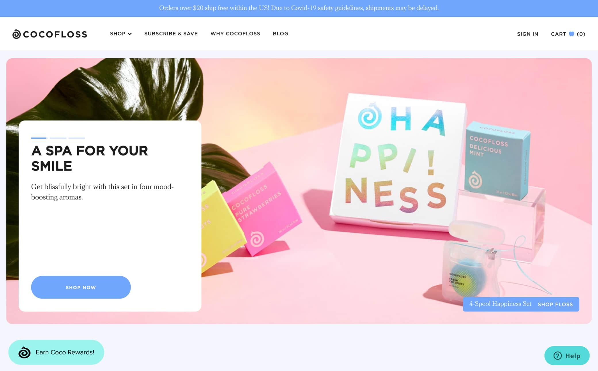 Cocofloss Screenshot Main