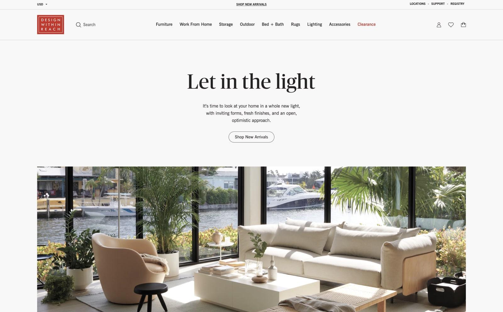 Design Within Reach Screenshot Thumbnail