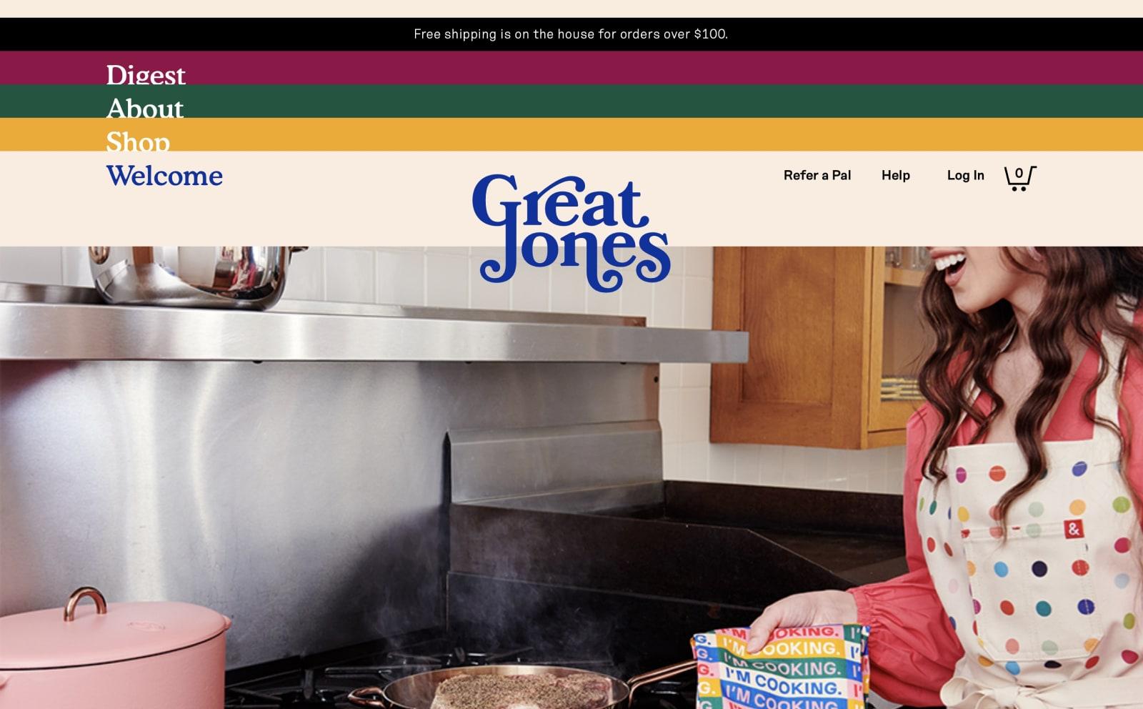 Great Jones Goods Screenshot Thumbnail