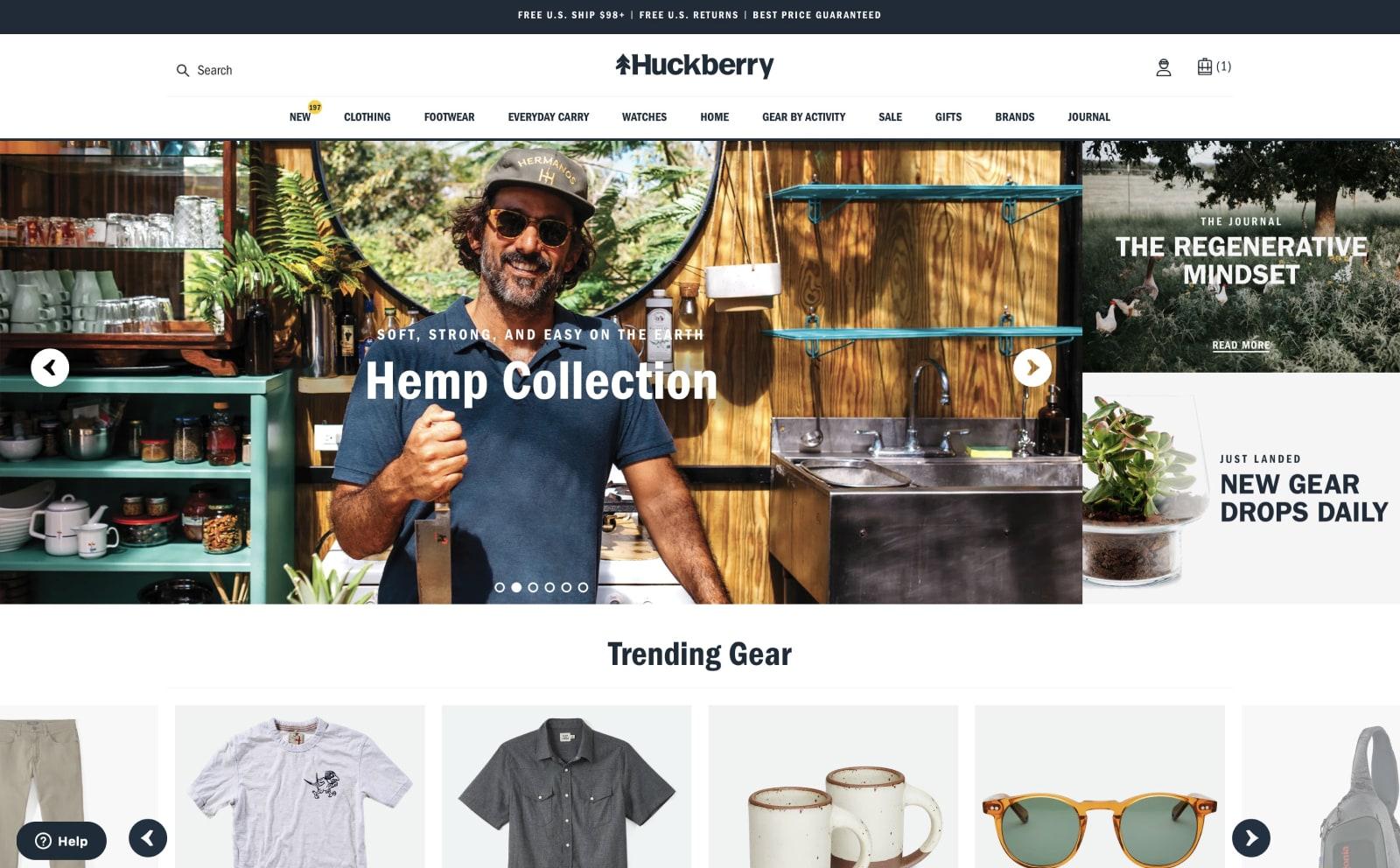 Huckberry Screenshot Thumbnail