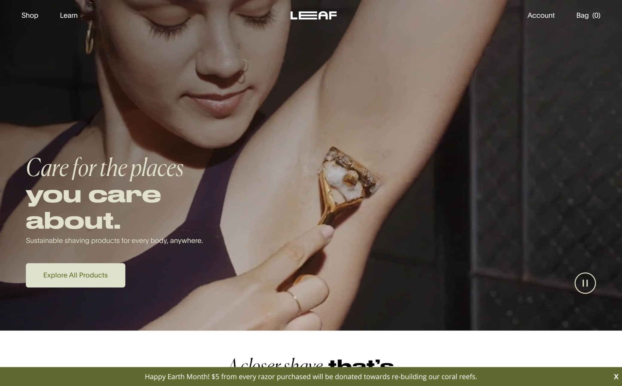 Leaf Shave Screenshot Main