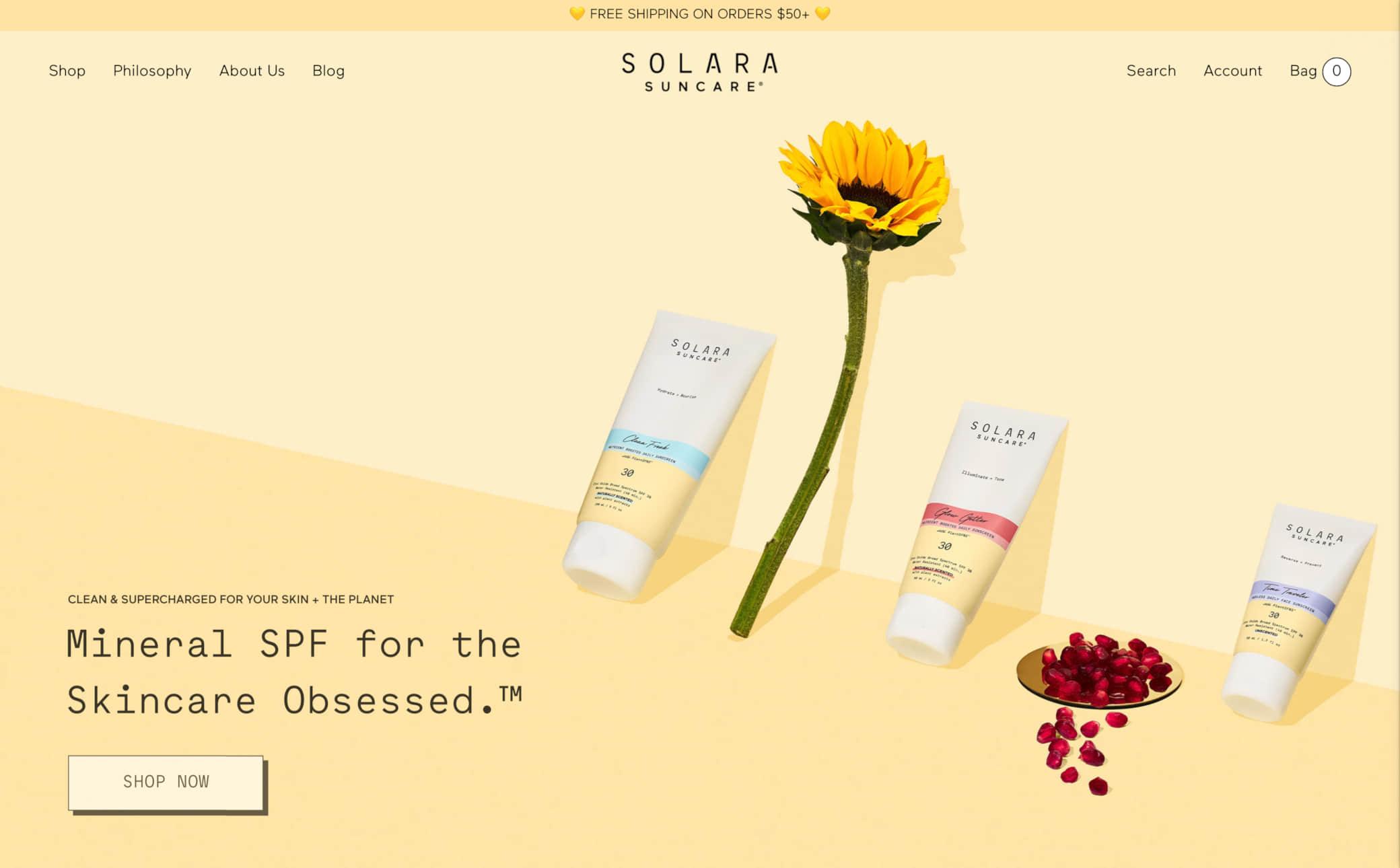 Solara Suncare Screenshot Main