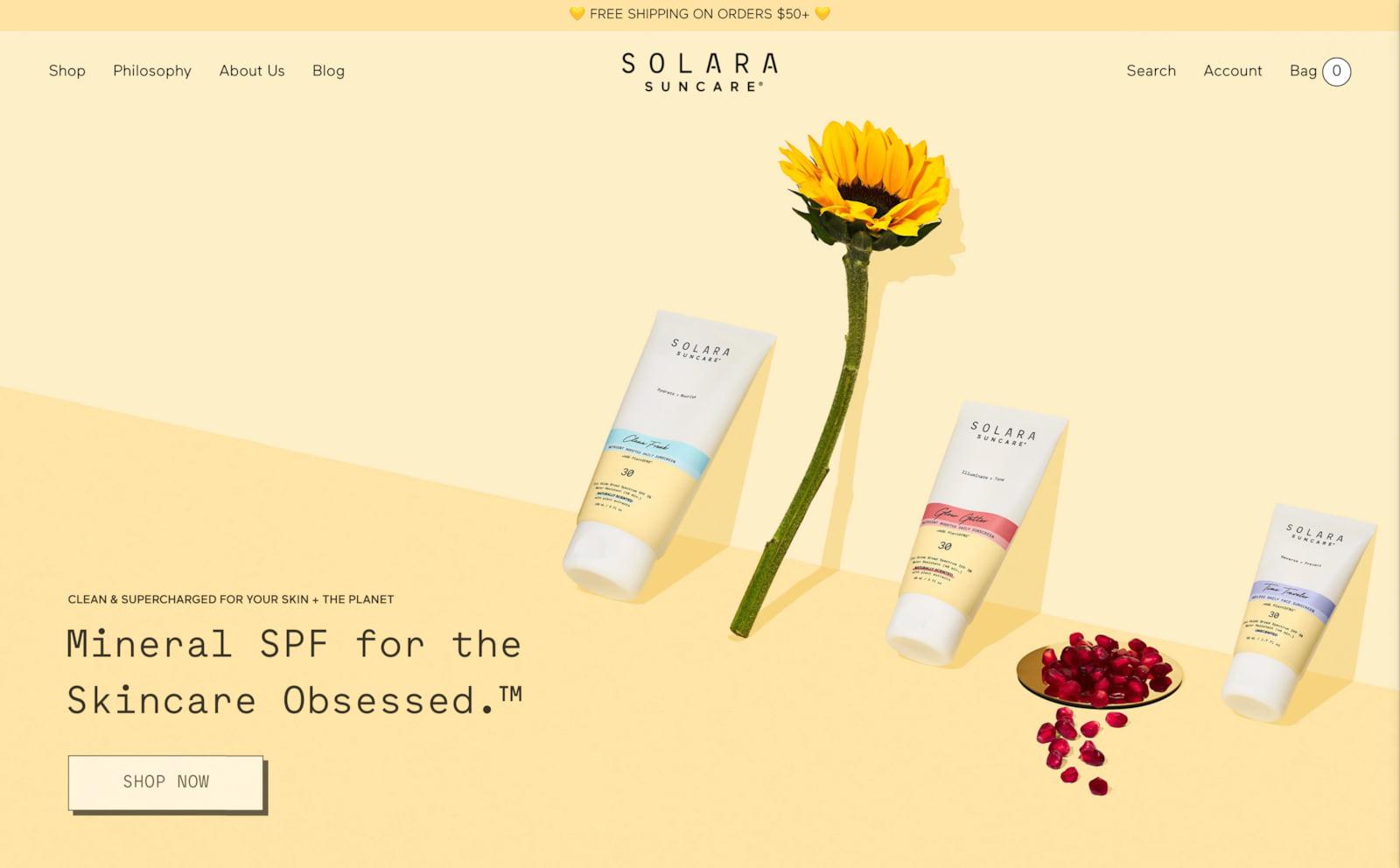Solara Suncare Screenshot Thumbnail