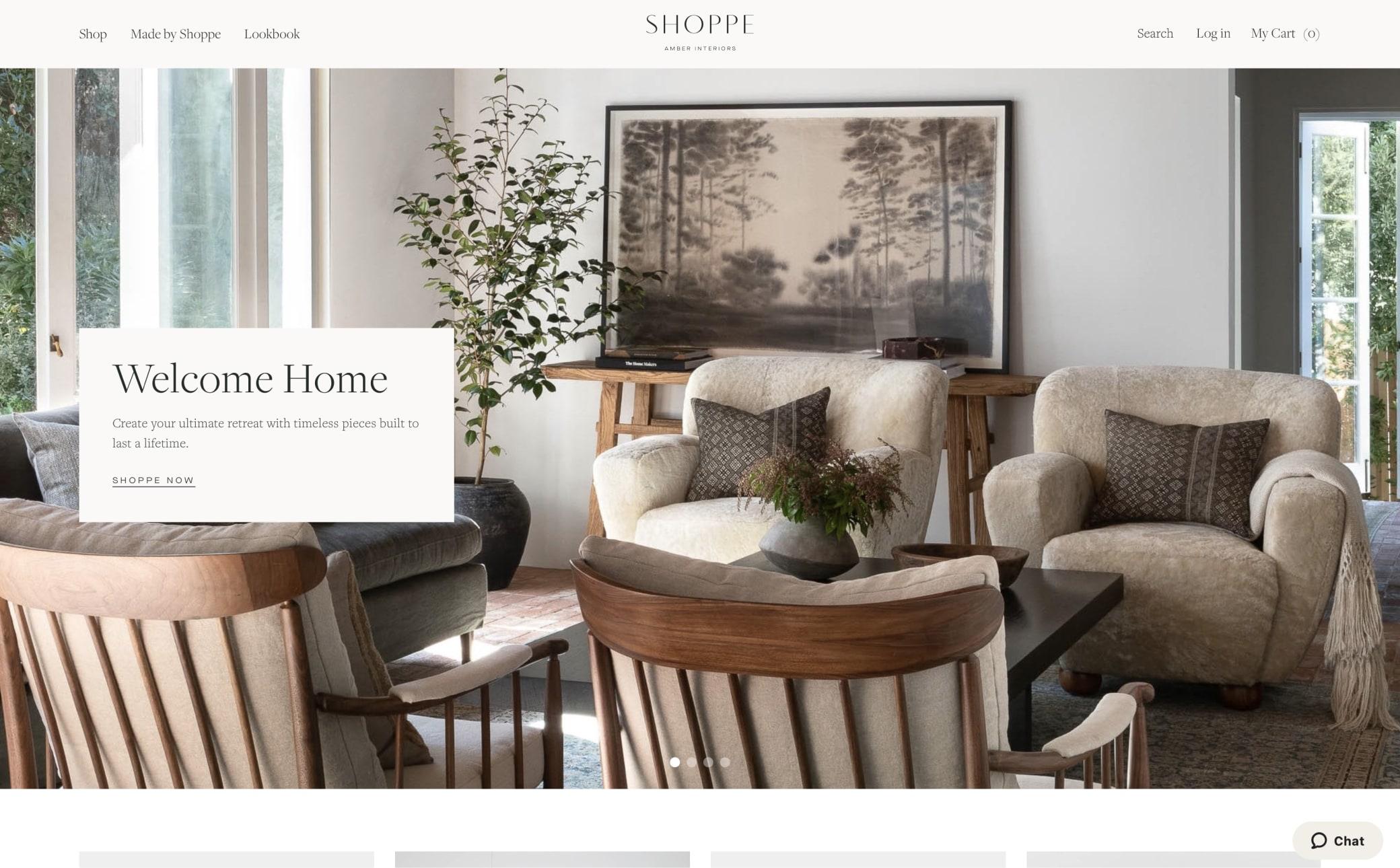 Shoppe Amber Interiors Screenshot Main