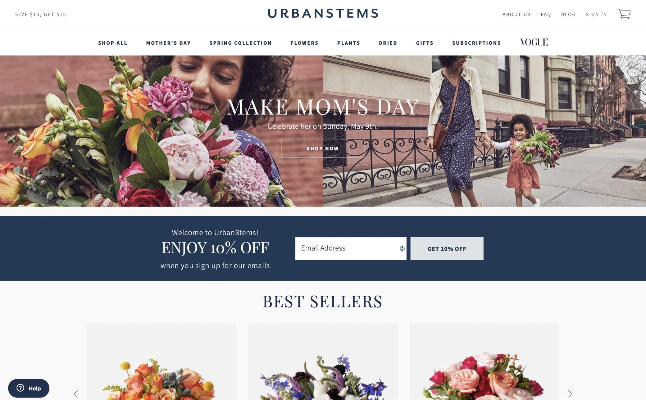Urban Stems Screenshot Main