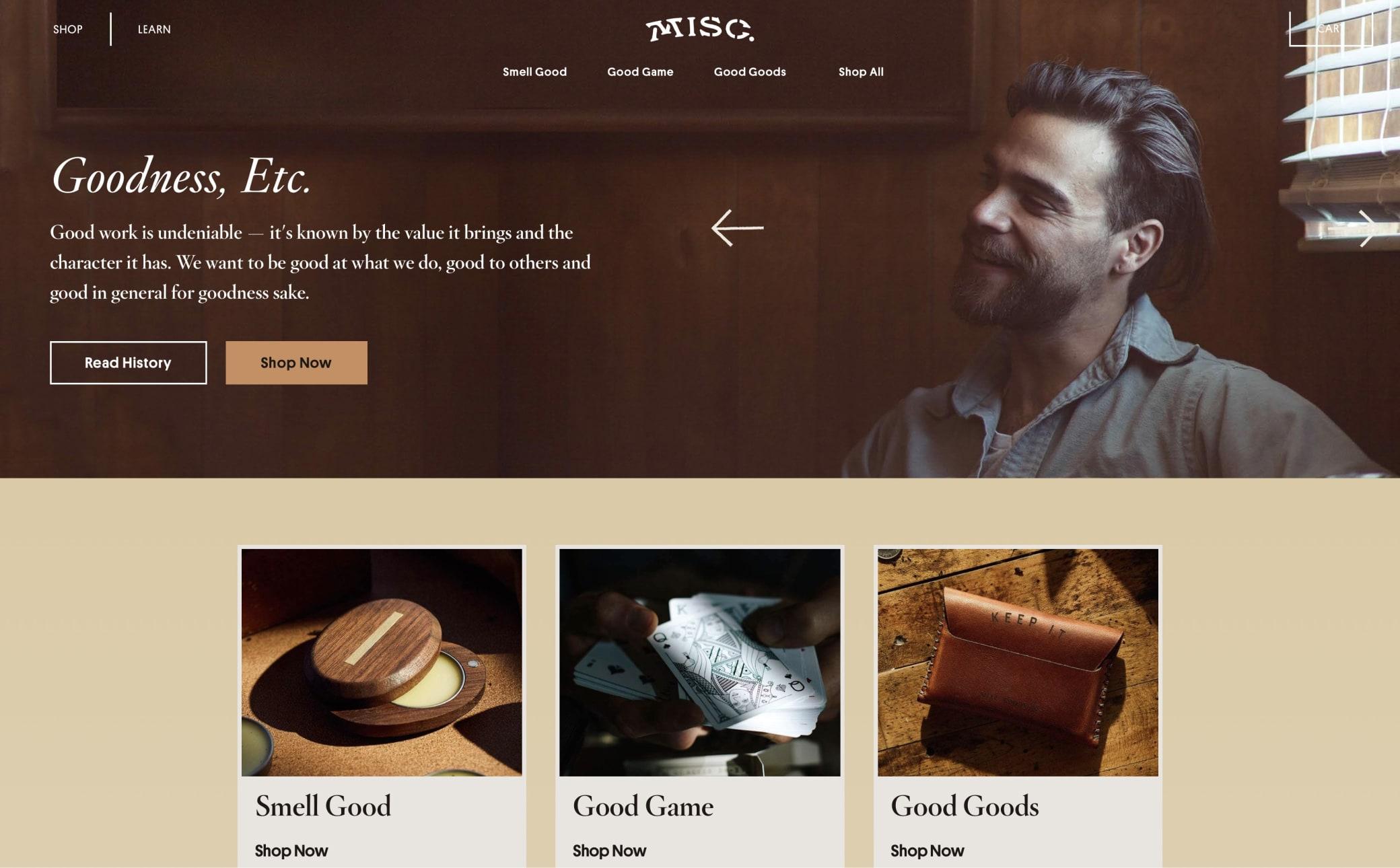 Misc. Goods Co. Screenshot Main