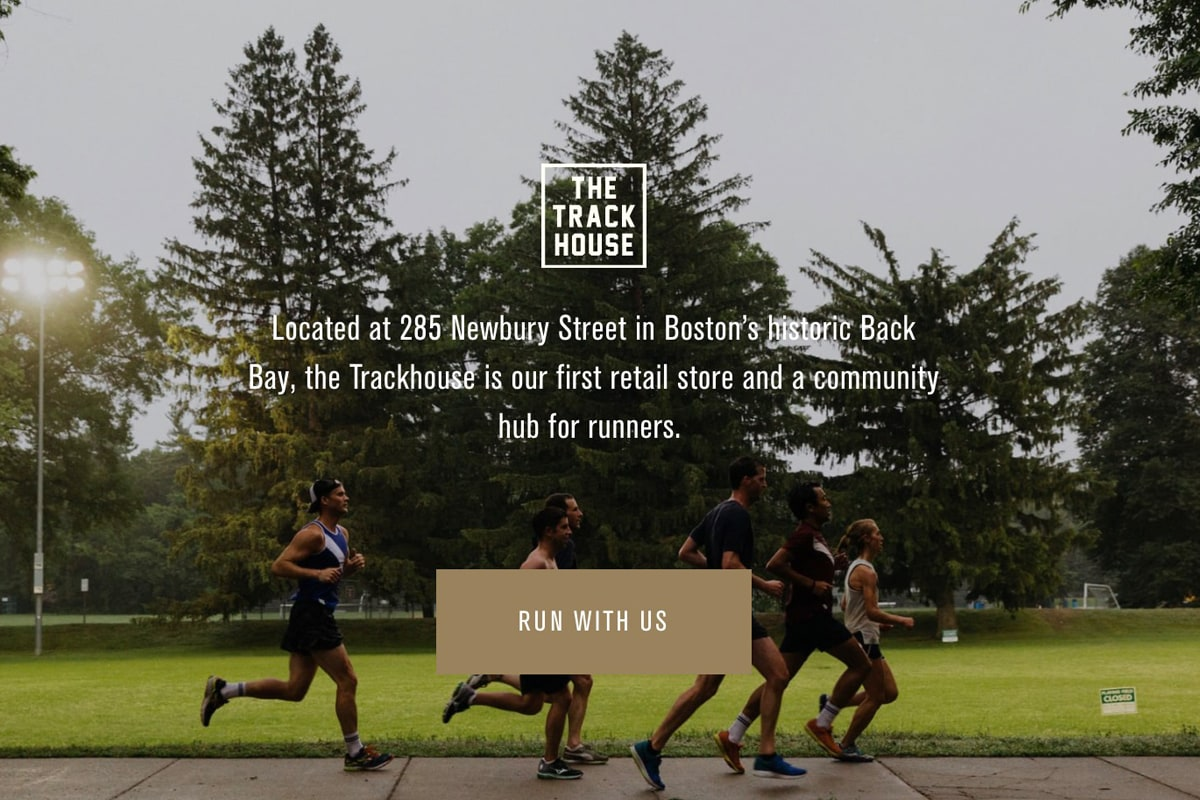 The Track House - Located at 285 Newbury Street in Boston's historic Back Bay, the Trackhouse is our first retail store and a community hub for runners