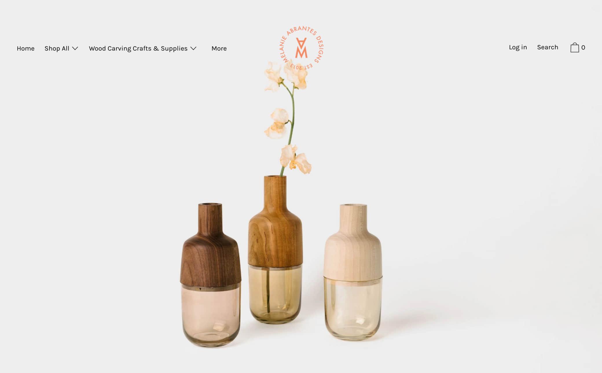 Melanie Abrantes Design Screenshot Main