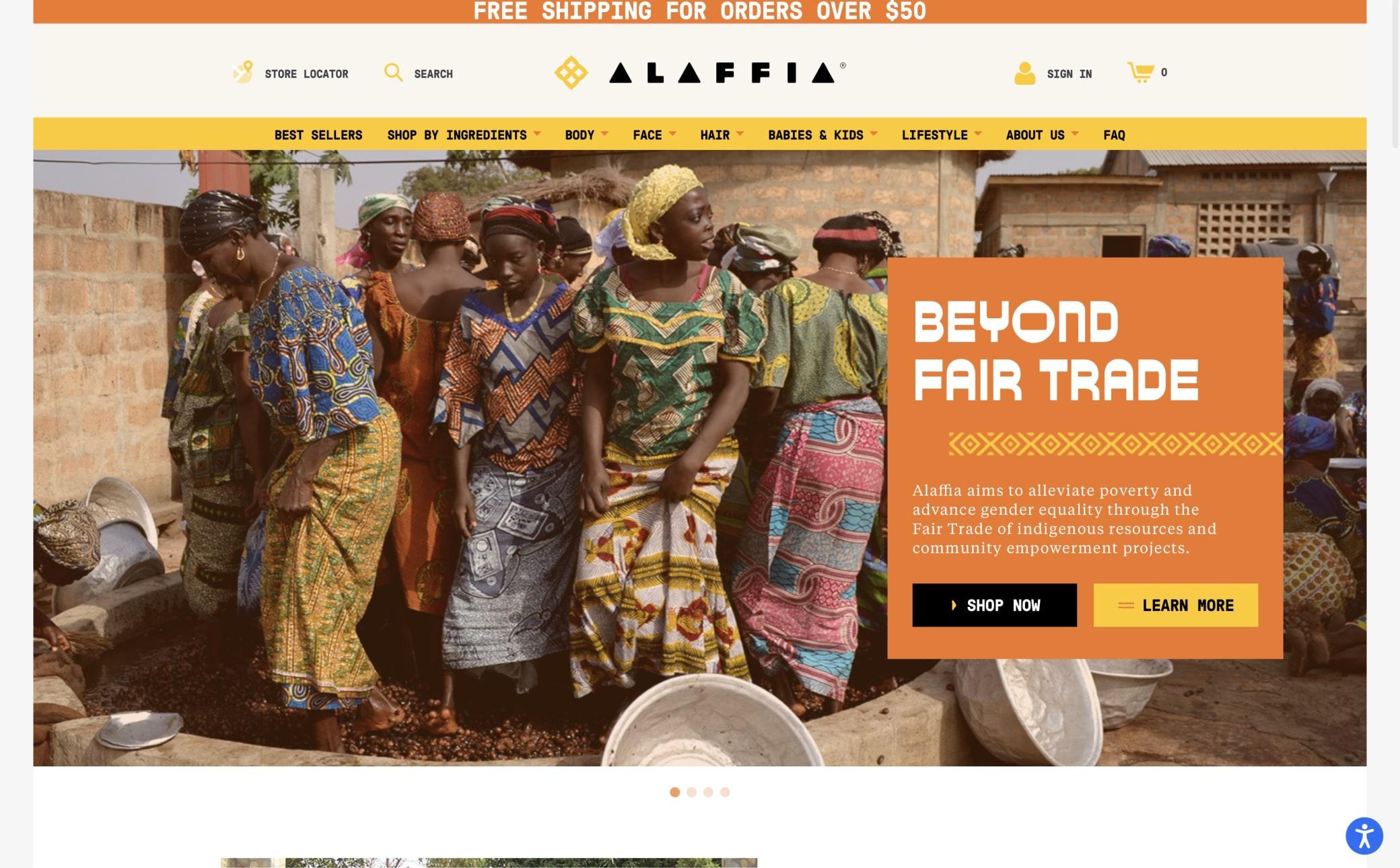 Alaffia Screenshot Main