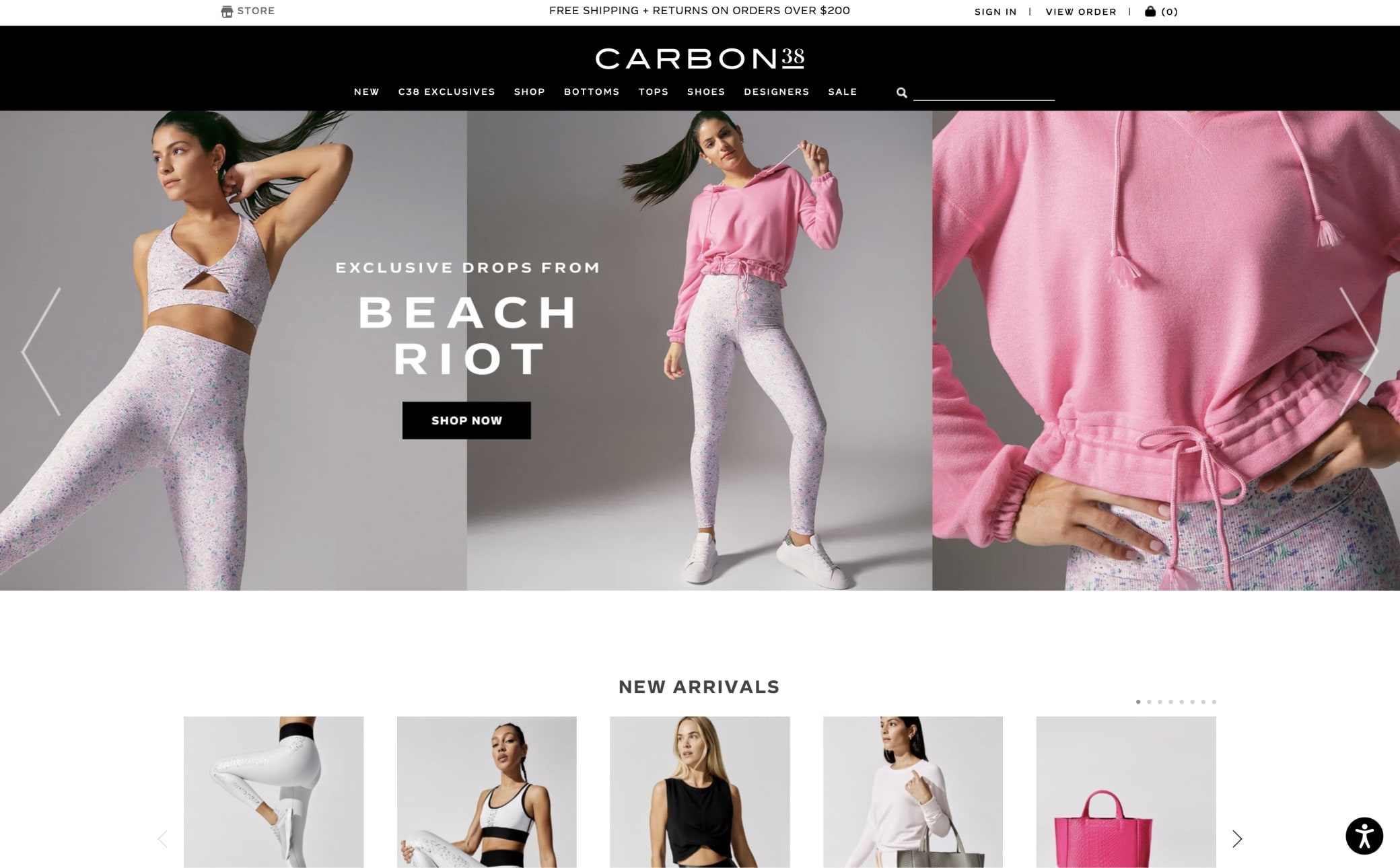 Carbon38 Screenshot Main