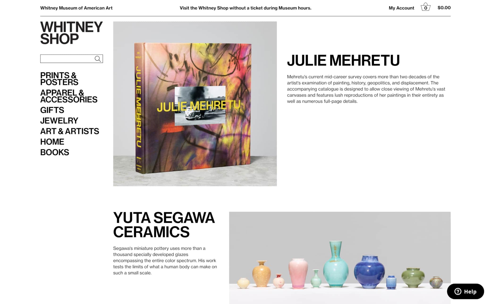 Whitney Museum of American Art Screenshot Main