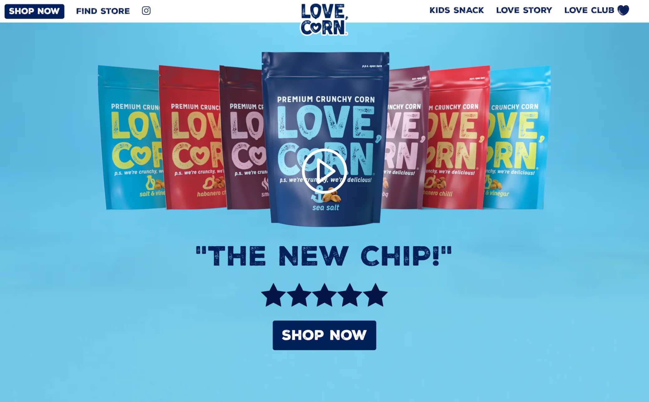LOVE CORN Screenshot Main