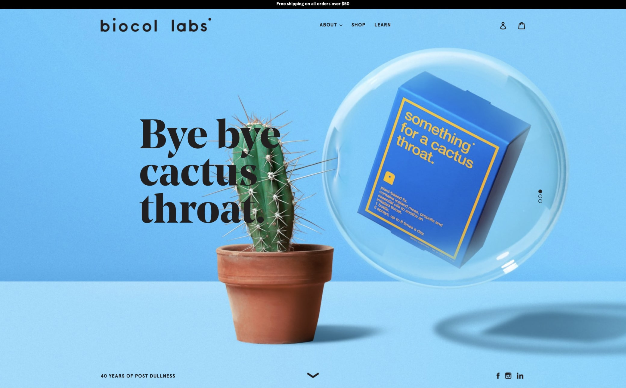 Biocol Labs Screenshot Main