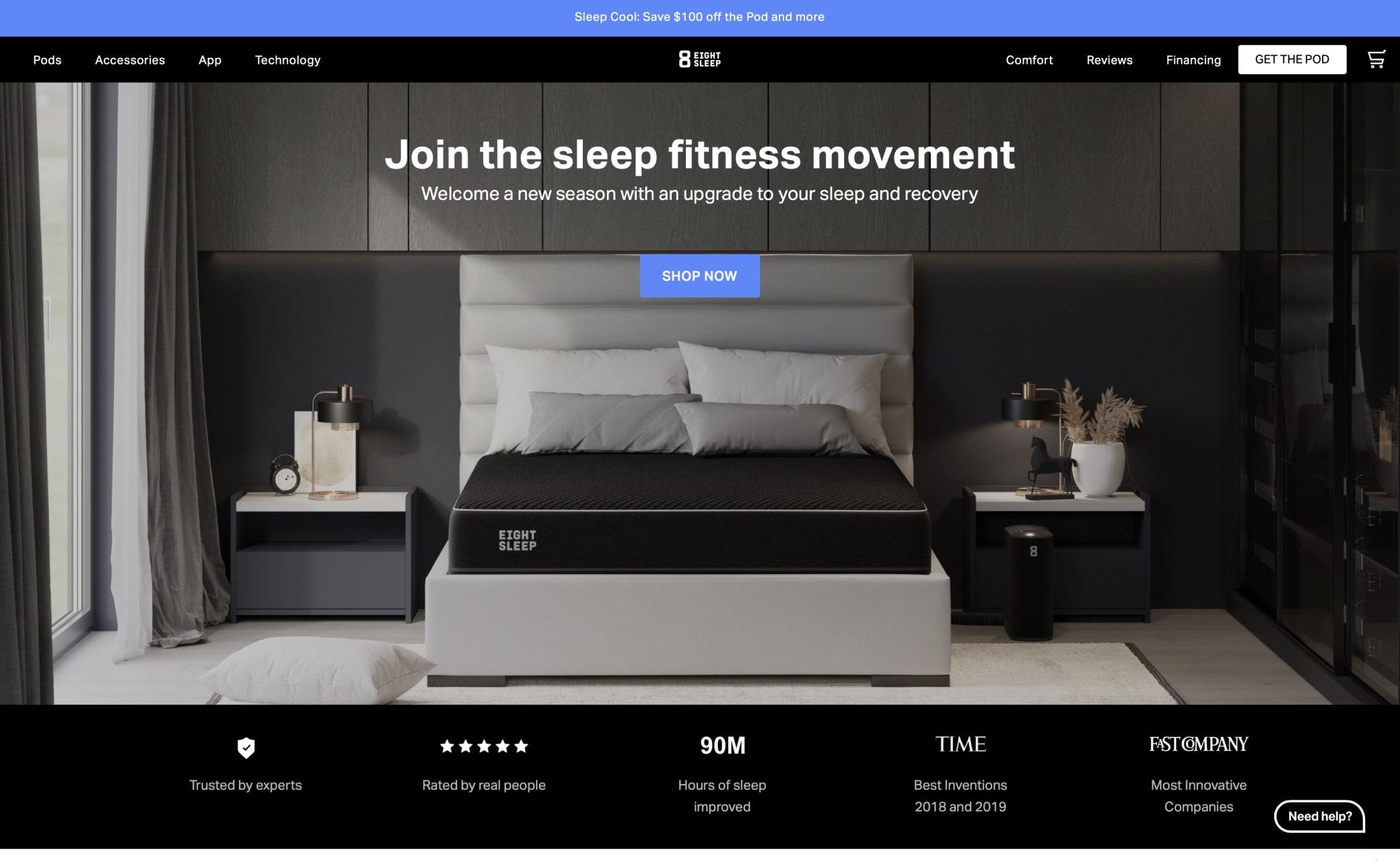 Eight Sleep Screenshot Main