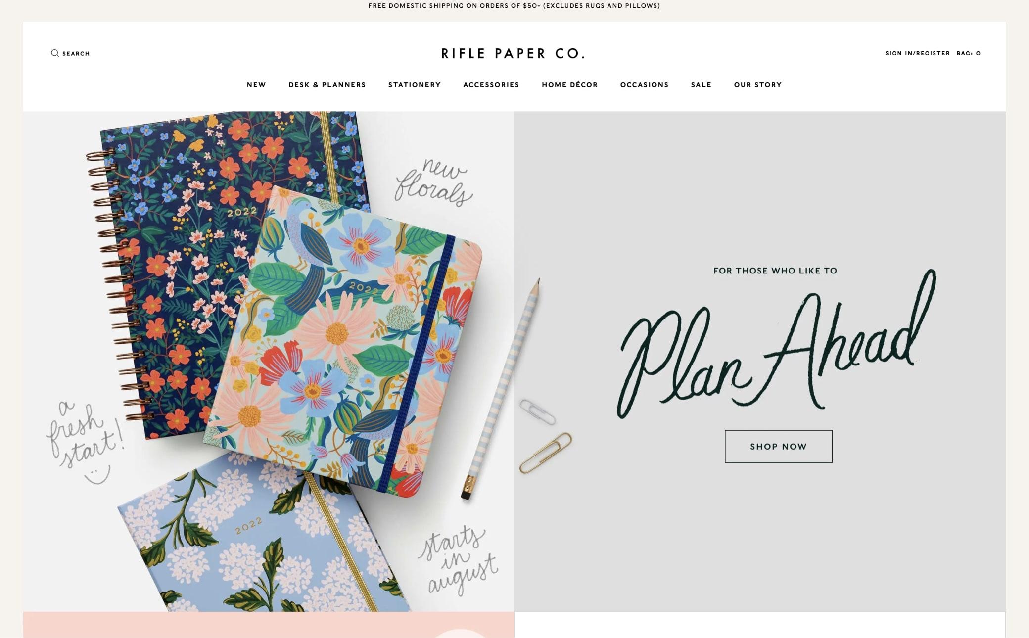 Rifle Paper Co. Screenshot Main