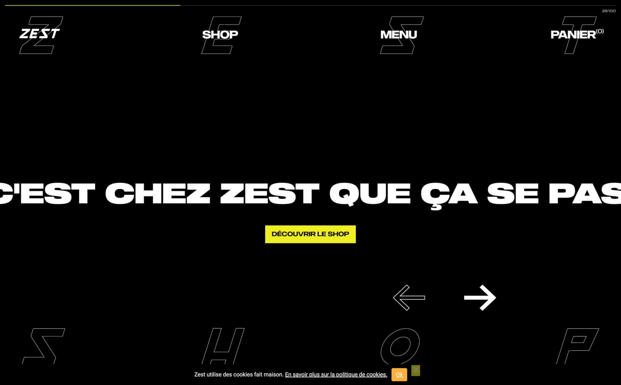 Zest Store Screenshot Main