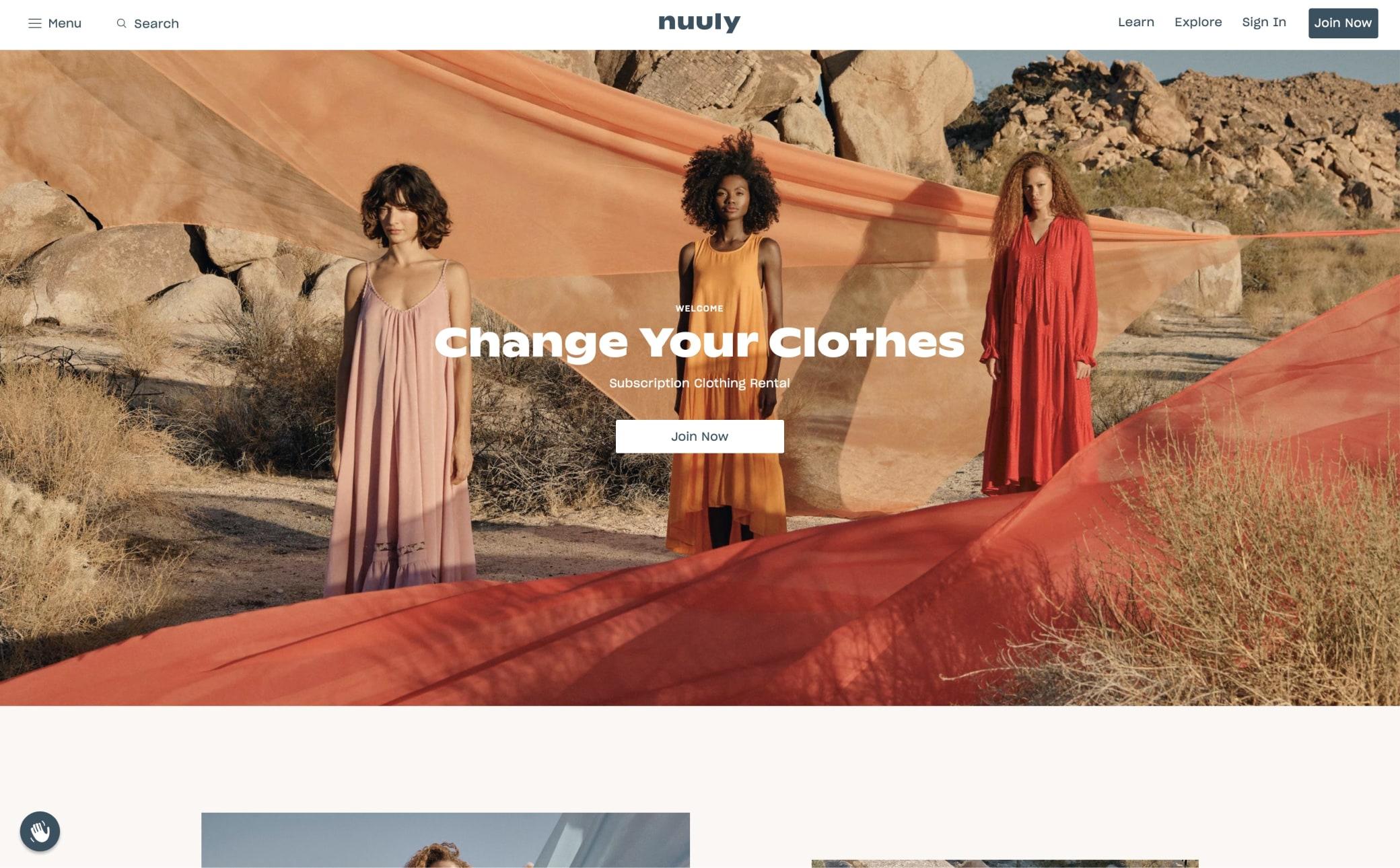 Nuuly Screenshot Main