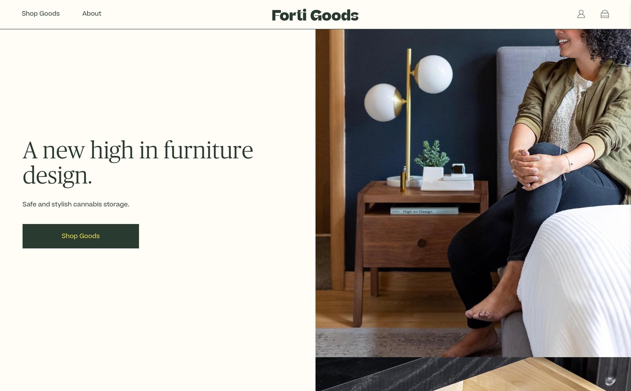Forti Goods Screenshot Main