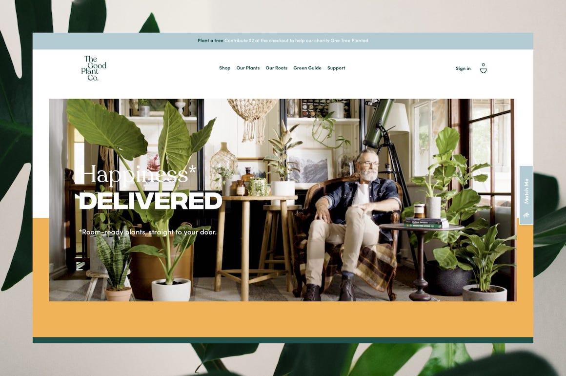 Thegoodplantco.com.au Home Page Screenshot