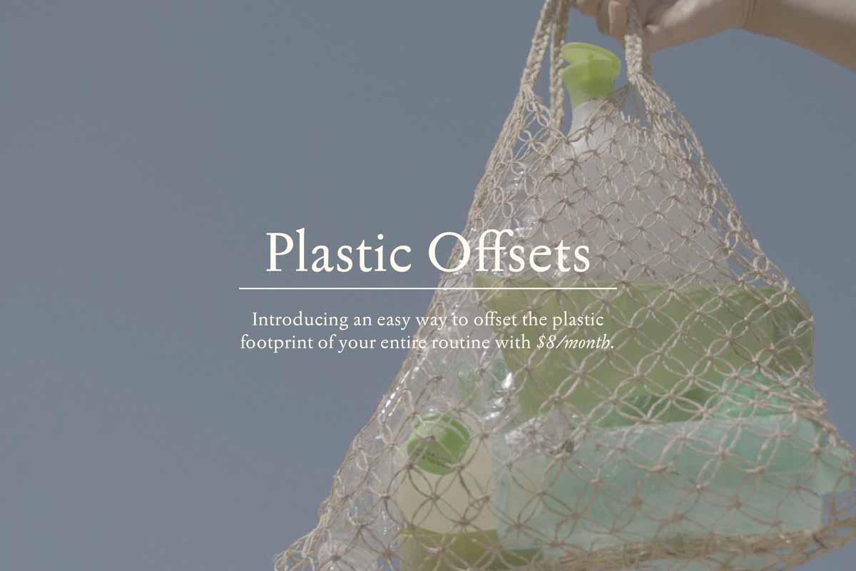 Screenshot of the header image of By Humankind's Plastic Offsets page