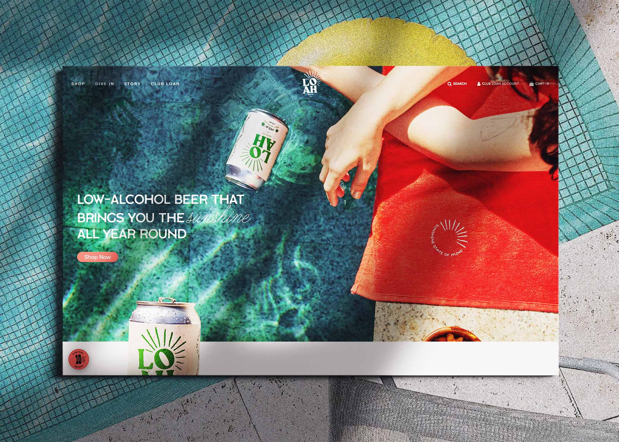 Screenshot of the loah.beer website home screen
