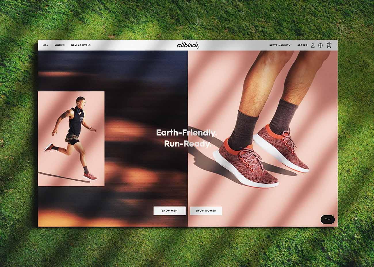 Allbirds Homepage Screenshot