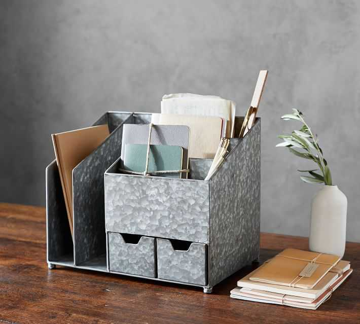 A list of desk organization ideas wouldn't be complete without a stylish desk organizer!