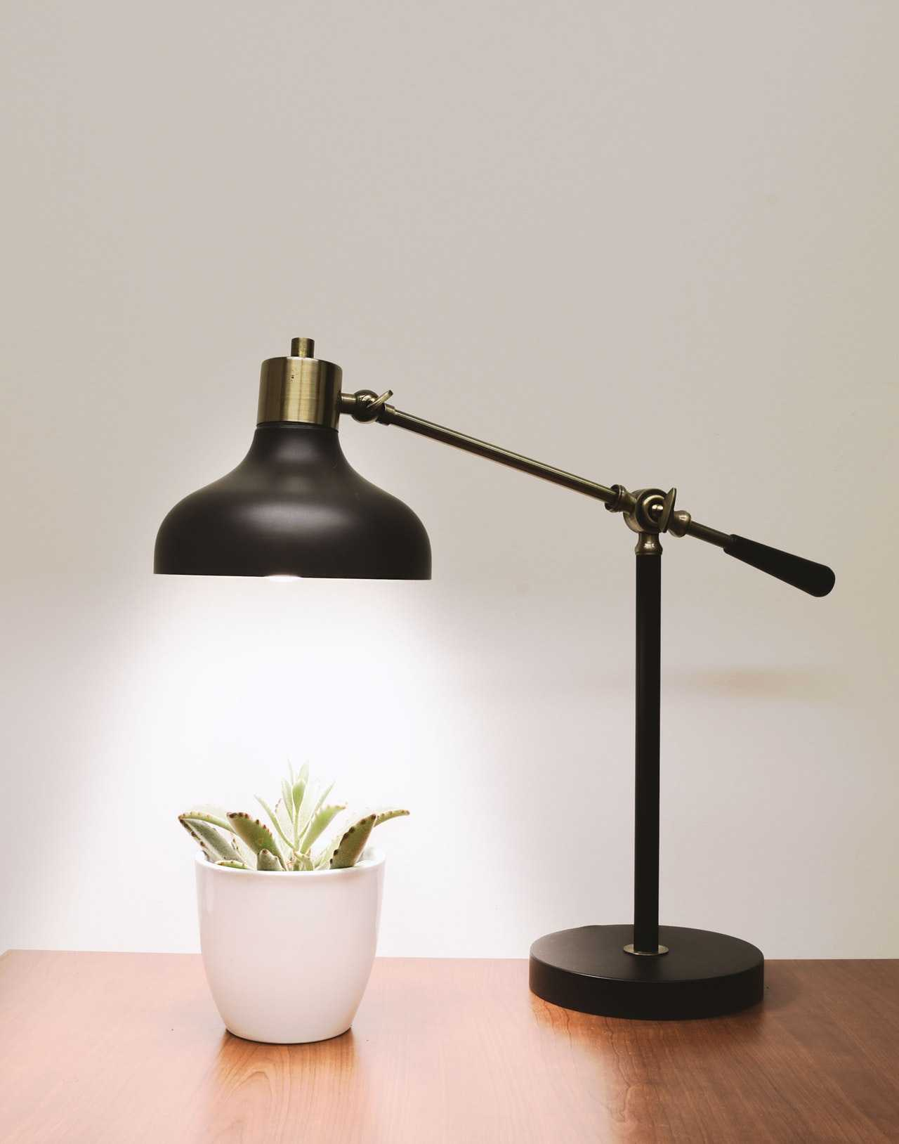Looking for bright desk organization ideas? A desk lamp will make your office shine!