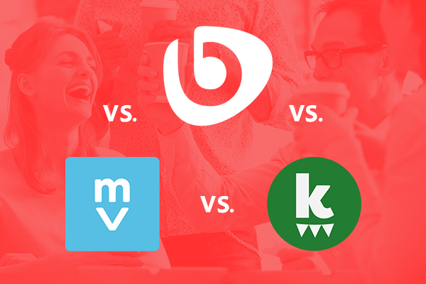 Logos of Bonusly, Motivosity, and Kazoo employee wellness office management software