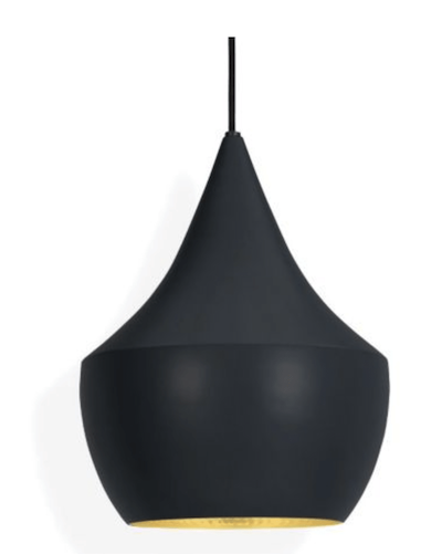 Hanging lamp for the office shaped like a pear