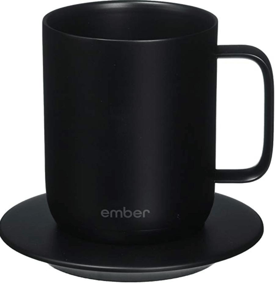 Ember mug on a plate
