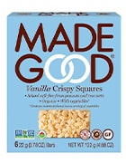 Box of vanilla crispy squares by Made Good