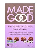 Box of soft baked mini cookies by MadeGood