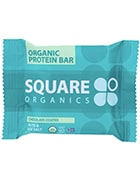 Square organics chocolate coated nuts and sea salt protein bar
