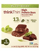 Box of ThinkThin chocolate mint protein bars