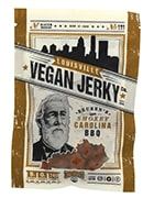 Bag of Carolina barbecue Louisville vegan jerky