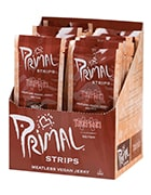 Box of Primal strips vegan jerky